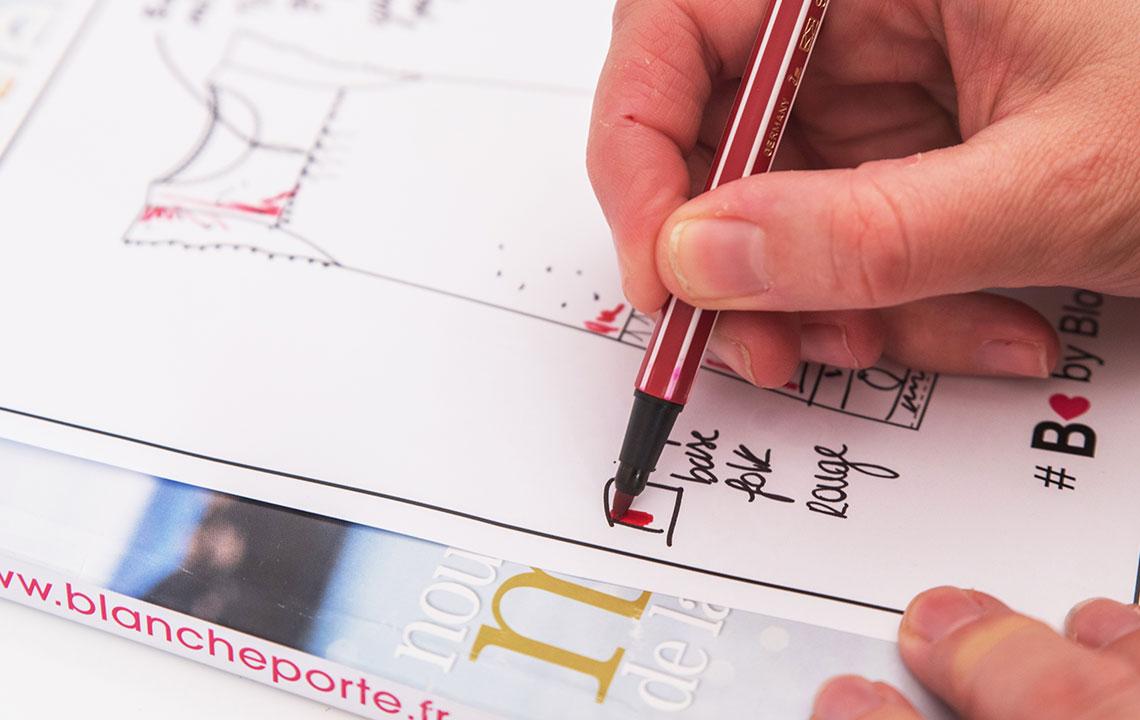 Permanente co-creaties met ontwerpsters, blogsters en onze klanten.