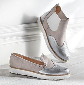 Boots chaussures femme bi-matière - Blancheporte