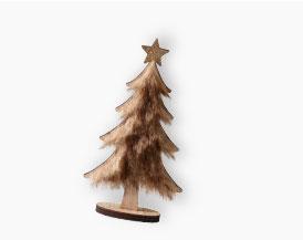 kies voor een Scandinavische toets met deze houten kerstboom