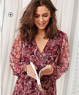 Craquez pour une robe chemise imprimée