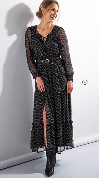zoom sur la robe longue