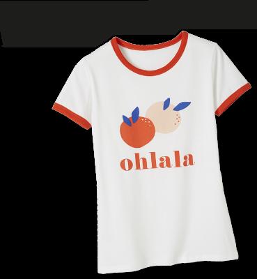 T-shirt met motieven