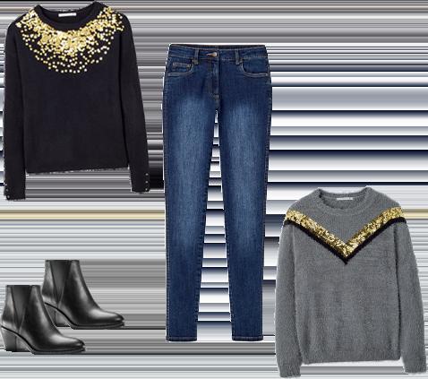 Pailletten & jeans, een vaste waarde!