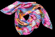 Sjaal met gekleurde print