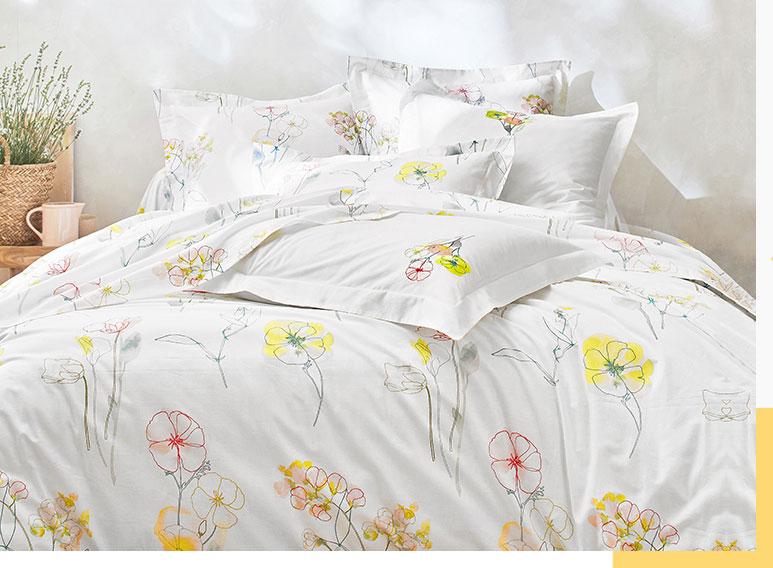 Parure de lit coton fleurie