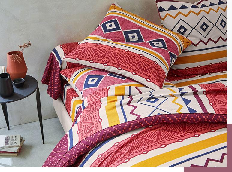 Parure de lit coton ethnique