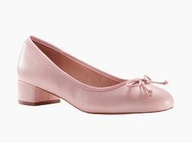 Roze ballerina's met hakje