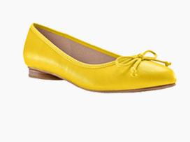 Geel platte ballerina's