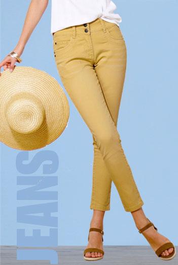 Smalle jeans 7/8-lengte