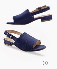 Sandales bleu marine cuir