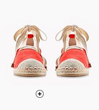 Rood espadrilles sandalen