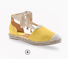 Geel espadrilles sandalen