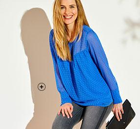 Blauw bloes in plumetisvoile