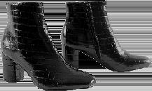 Zwarte boots in krokostijl