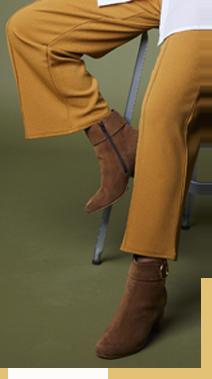 Pantalon jaune large 7/8ème