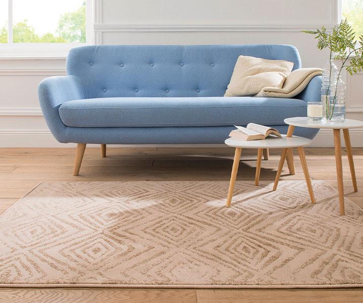 Bedrukt bruin tapijt