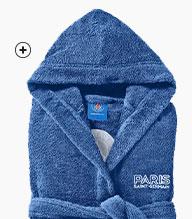 Blauwe badjas voor kinderen