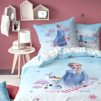 Blauwe bedlinnenset Frozen