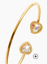 Goudkleurige armband met Swarovski-kristallen voor dames