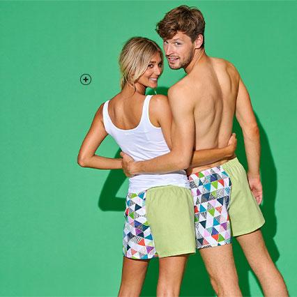 Groene geüpcyclede boxershort voor heren