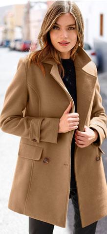 Manteau marron caban