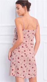 Roze soepel nachthemdje voor dames met bloemenprint in viscose, goedkoop - Blancheporte