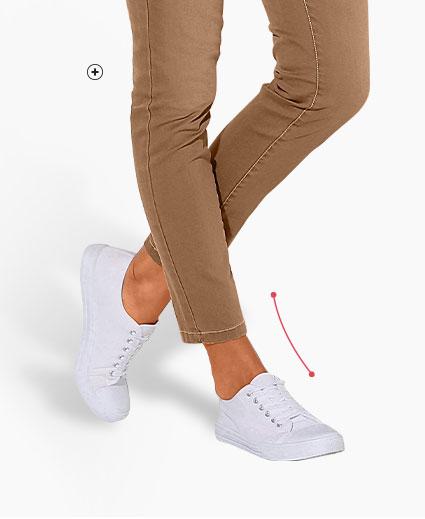 Bruine damesjeans in smal stretch model Colors & Co®, goedkoop - Blancheporte
