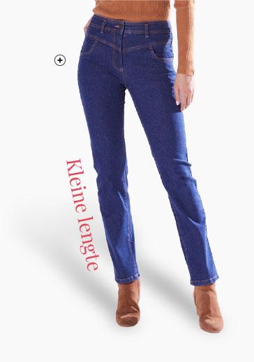 Rechte blauwe damesjeans voor kleine lengte Colors & Co®, goedkoop - Blancheporte