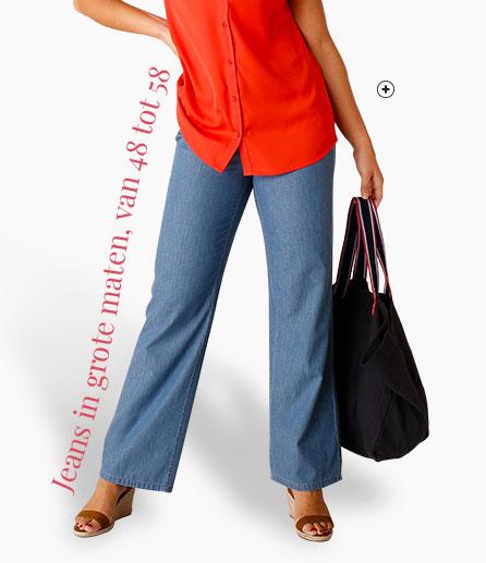 Wijde blauwe damesjeans voor grote maten Isabella® - Blancheporte