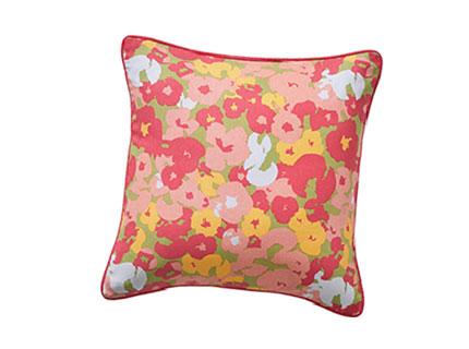 Housses de coussins déhoussables rose imprimé fleuri 40x40cm coton pas cher - Blancheporte