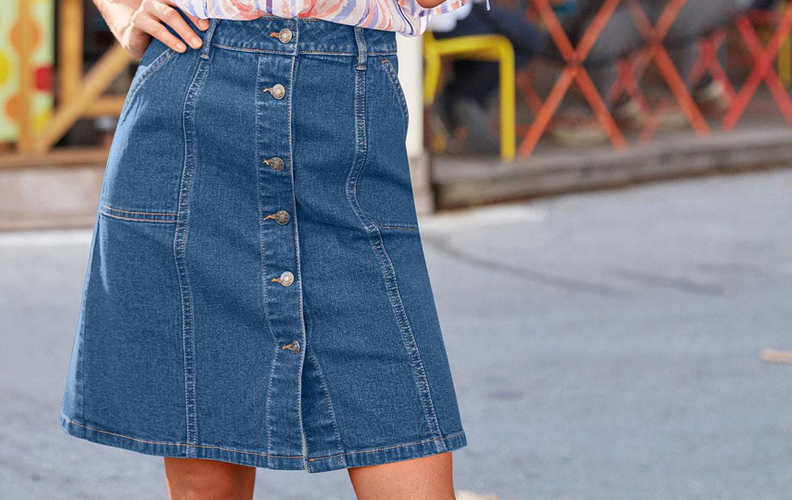 Jeansrok: 4 modellen om mateloos te dragen