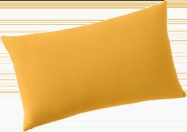 Housse de coussin jaune 100% lin lavé - lot de 2 COLOMBINE® - pas cher - Blancheporte