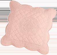 Housse rose coussin Cassandre à motif relief en coton COLOMBINE® - pas cher - Blancheporte