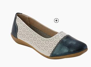Bruine leren sandalen met ajour en glitters in breed model Pédiconfort®, goedkoop - Blancheporte