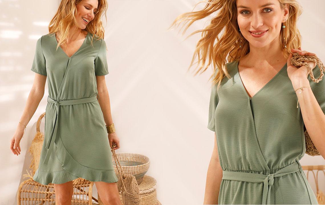 Mode: hoe de jurk met stroken te dragen?