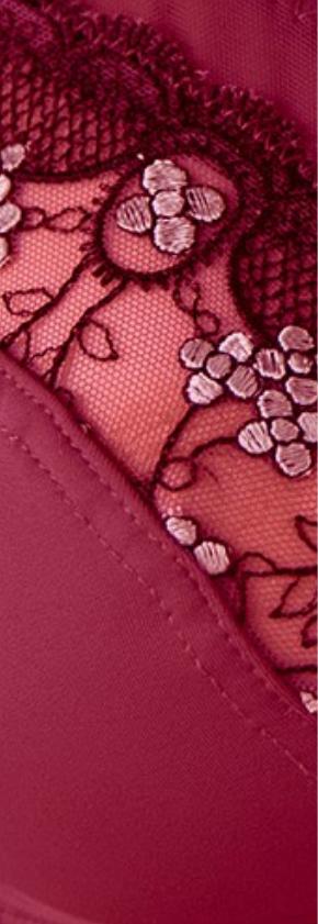 Rode, steungevende beha zonder beugels Confidence Lingerie® Oeko-Tex®, goedkoop - Blancheporte
