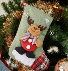 Kerstsokken met motief van kerstman, rendier, beer en sneeuwman, goedkoop - Blancheporte