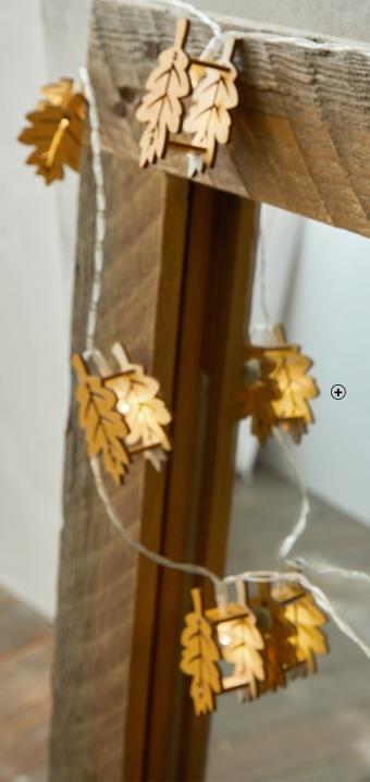 Lichtgevende kerstslinger voor binnen op batterijen met led-blaadjes, goedkoop - Blancheporte