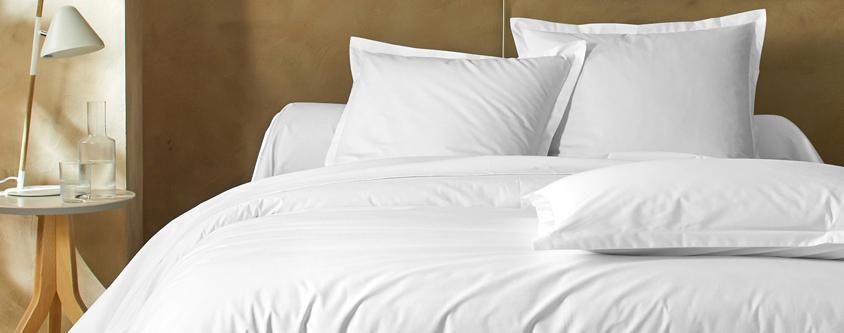 Bedlinnenset in wit katoen Oeko-Tex® Colombine®, goedkoop - Blancheporte
