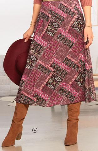 Dameslaarzen in bruin leer met plissé en brede hak, goedkoop - Blancheporte